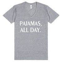 Pajamas All Day-Unisex Athletic Grey T-Shirt