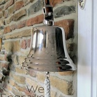 8 Inch Nickel Finish Ship Bell | A Simpler Time