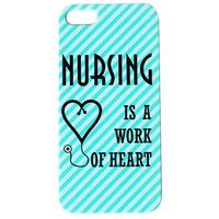 Nursing Is A Work Of Heart Phone Case