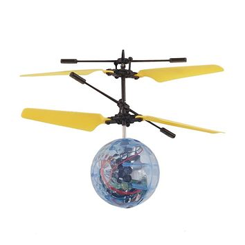 Creative RC Flying Ball Electric Drone Helicopter Indoor Built-in Disco Music With Shinning Colorful LED Lighting Toys For Kids