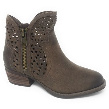 Not Rated Etta Taupe Cut-Out Ankle Booties