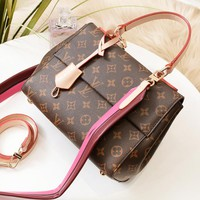 LV Louis Vuitton High quality new fashion monogram check leather shoulder bag handbag women