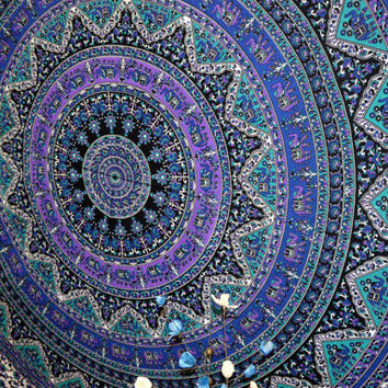 Mandala Tapestry Hippie Wall Tapestries Gypsy Wall Hanging Indian Wall Tapestry Dorm Bedspread Cotton Bed Cover Wall Decorative art