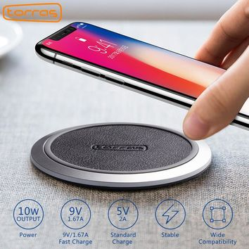 TORRAS  Qi Wireless Charger Adapter Pad For iPhone X S8 Edge