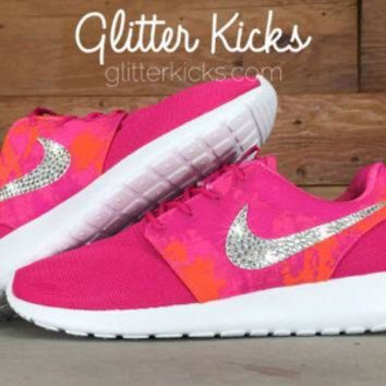 Bling Women s Nike Roshe Run Blinged Out With Swarovski Crystal 02bf3c8a7