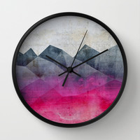 Pink Concrete Wall Clock by Cafelab