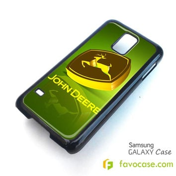 JOHN DEERE Tractor Logo Samsung Galaxy S2 S3 S4 S5, Mini, Note, Tab Case Cover