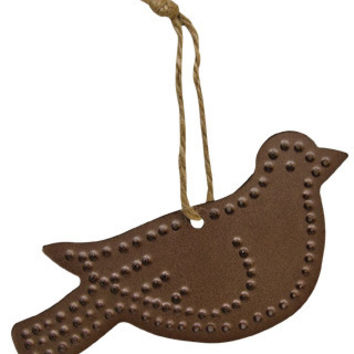 Punched Tin Bird Ornament