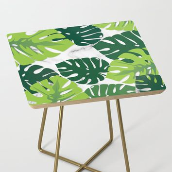 Monstera Marble Side Table by littlebiscuit