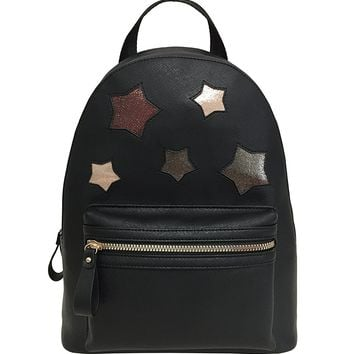 ESA Small Backpack for Women Purse Vegan Leather PU School Casual Daypack