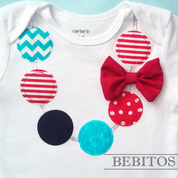 Baby Girl Necklace Bodysuit - Dr Seuss Necklace Bodysuit - Dr Seuss First Birthday Bodysuit