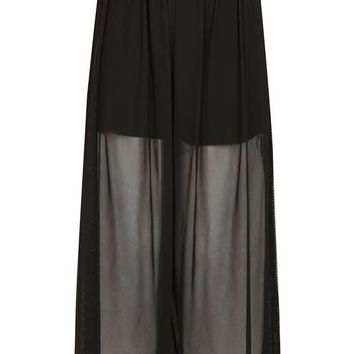 Tulle Mesh Pull On Trousers - Trousers & Leggings - Clothing