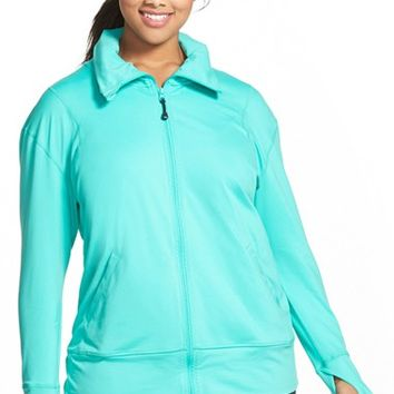 Plus Size Women's Zella ' Zen Again' Front Zip Jacket,