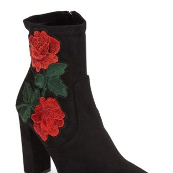 Steve Madden Edition Embroidered Bootie (Women) | Nordstrom