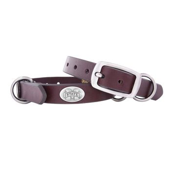 Zep-Pro Mississippi State Bulldogs Concho Leather Dog Collar - S