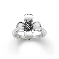 James Avery Dogwood Blossom Ring - Sterling Silver 6