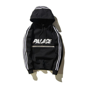 Palace Sweatshirt Black Hip Hop Street 2016 Sweat Palace Hoodies Mens Skateboards suprem Hoodie Zipper Men Sudadera Hombre pul