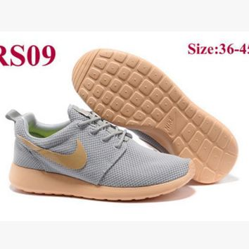 Nike Fashion Women Men Running Sport Casual Shoes Sneakers Light grey orange