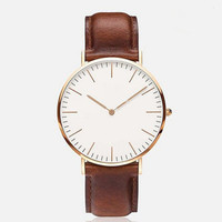Women 's Fashion Leather Wrist Watch Watches + Gift Box