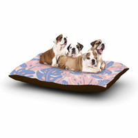 "Will Wild ""Rose Quartz & Serenity Jungle"" Pink Floral Dog Bed"