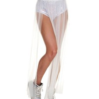 Women's Fairy Tulle Tutu Long Sheer Maxi Skirt