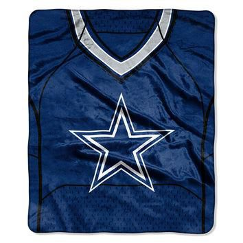 Dallas Cowboys NFL Royal Plush Raschel Blanket (Jersey Raschel) (50in x 60in)