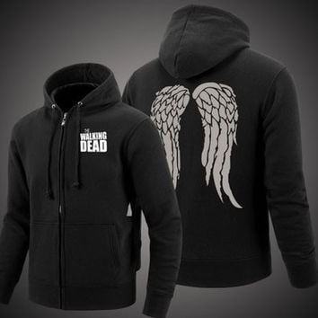 The Walking Dead Jacket Wings Hoodie Sweatshirts Unisex