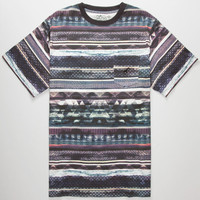 Lrg Research Stripe Mens Pocket Tee Black Combo  In Sizes