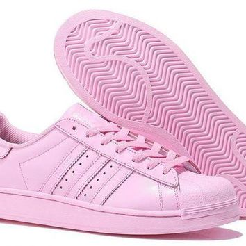 VLX85E Beauty Ticks Adidas Womens Superstar All Pink