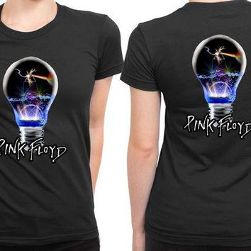 DCCKL83 Pink Floyd Light Lamp 2 Sided Womens T Shirt