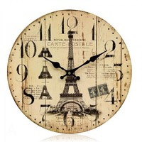 Retro and Idyllic Mediterranean Wind Decorative Wall Clock