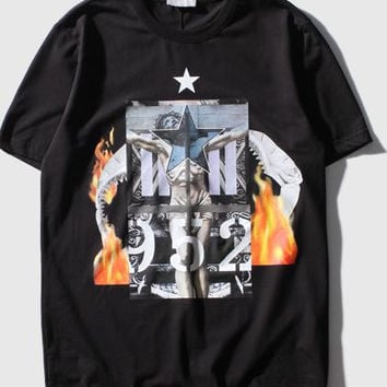 Astc New Fashion Design 2017 New Spring And Summer T-shirt West Coast Tide Brand T Shirts Jesus Religious Print Top Tee
