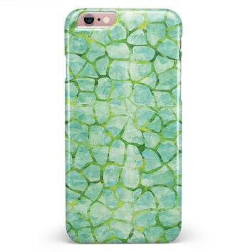 Green Watercolor Giraffe Pattern iPhone 6/6s or 6/6s Plus INK-Fuzed Case
