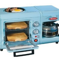 Nostalgia Electrics BSET-100BLUE Retro Series 3-in-1 Breakfast Station