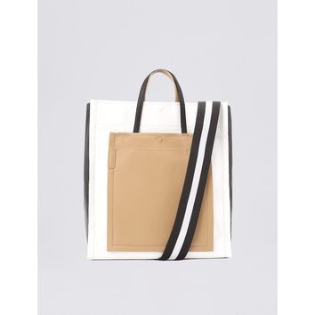 3.1 Phillip Lim Natural Accordion Shopper Tote Bag - Multicolor Shoulder Strap Tote Bag