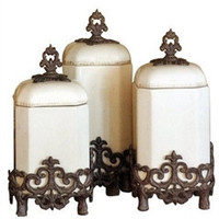 Provencial Kitchen Canisters-Set of 3