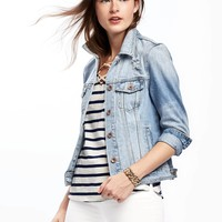 Distressed Denim Jacket for Women | Old Navy