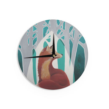"Lydia Martin ""Fox Forest"" Wall Clock"