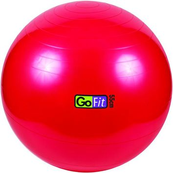 GoFit(R) GF-55BALL Exercise Ball with Pump (55cm; Red)