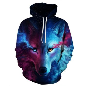 Mr.1991INC Hot Sell Animals Sweatshirts Men/women Hooded Hoodies With Hat Print Wolf Lion Cat Horse Thin 3d Sweatshirts