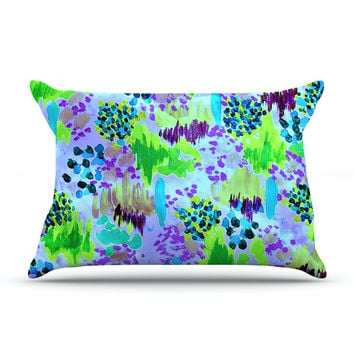 "Ebi Emporium ""Lagoon Love"" Lavender Green Pillow Sham"