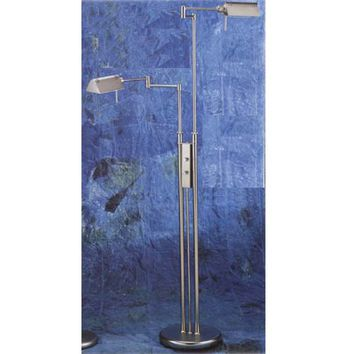 Lite Source LS-974SS Double Pharmacy Steel Floor Lamp