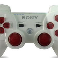 PS3 Modded Rapid Fire Controller White Drop Shot Jitter Akimbo