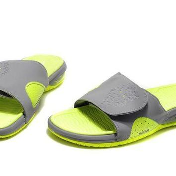 VLX85E Beauty Ticks Nike Air Lebron Slide Green/gray Casual Sandals Slipper Shoes Size Us 7-11