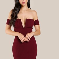 Hem Bodycon Dress