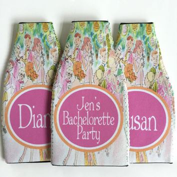 Bottle Bachelorette or Birthday Koozies. Lilly Birthday or Bridesmaid Koozies. Wedding Gifts. Custom Lilly Bachelorette Party Coozies.