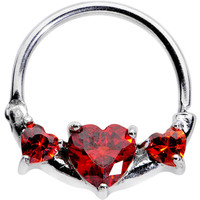Red Heart Nipple Clicker Created with Swarovski Crystals | Body Candy Body Jewelry