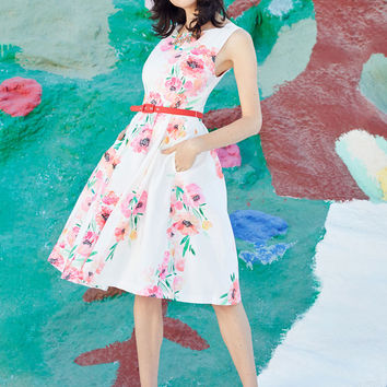 Hotline Spring Floral Dress | Mod Retro Vintage Dresses | ModCloth.com