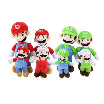 Super Mario party nes switch 8Styles 21-41cm Plush Toys  Luigi Mushroom Plush Doll Animal Stuffed Kids Toy for Child Gift Anime Toys AT_80_8