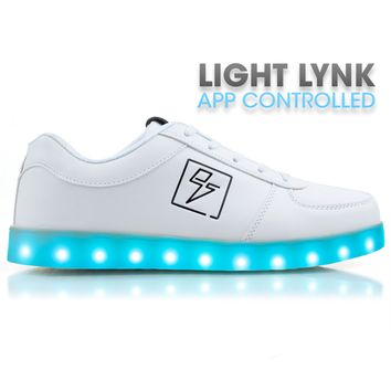 Bolt Light Lynk White - APP Controlled Low Top LED Shoes